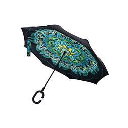 HappyGO Colorful Manual Open Double Umbrella Cloth Car Dedic