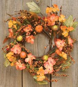 Harvest Garden Ring Mini Wreath Fall Flowers Mini Pumpkins L