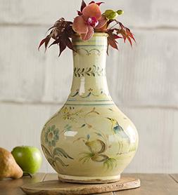Wind & Weather HD8673 Gourd-Shaped Majolica Vase, Hand-Turne