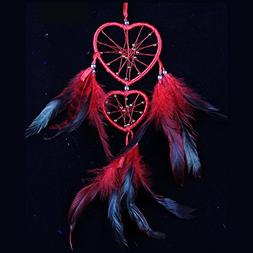 Molshine Heart Dream Catcher Wall Hanging Decoration Ornamen
