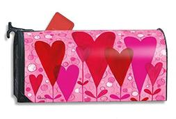 heart flowers mailbox cover
