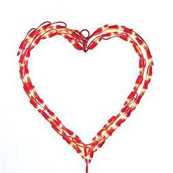Kurt Adler Heart Window Décor, 12-Inch, Red