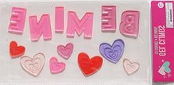 Hearts Valentine ''Be Mine'' Gel Window Clings - 13 Piece