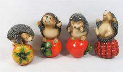 Hedgehog on Fruit Resin Figurines Yard & Garden Home Decor S