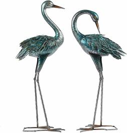 Heron Crane Statue Sculpture Garden Bird Yard Art Decor Lawn