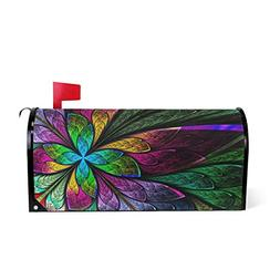 WOOR Hipster Rainbow Butterfly Magnetic Mailbox Cover MailWr