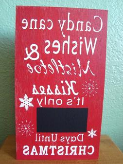 Holiday Advent Calendar Sign ~ Candy Cane Wishes ... ~ Chalk