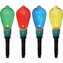 Holiday Lawn Stakes Set of 10 Edison Style Bulbs Christmas O