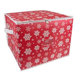DII Holiday Ornament Storage Bin with Dividers & Separators