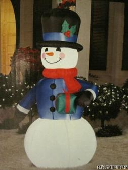 HOLIDAY SNOWMAN LED LIGHTED INFLATABLE~6 FT~YARD DECOR~INDOO