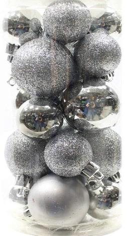 Holiday Time 20 Mini Shatterproof Christmas Ball Ornament De