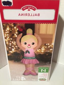 Holiday Time Airblown Inflatable Ballerina Christmas 4' Tall