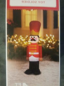 Holiday Time Airblown Inflatable Toy Soldier 4Ft Tall NIB