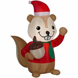 Holiday Time Inflatable Chipmunk Airblown Christmas Yard Dec