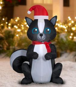 Holiday Time Inflatable Skunk 3.5 Ft Tall Airblown Gemmy Chr