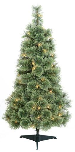 Holiday Time Pre-Lit 4' Cashmere Artificial Christmas Tree,