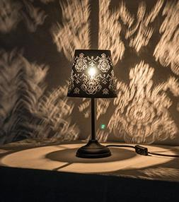 "15"" Hollowed-out Metal Table Lamp Desk Lamp Bed Lights With"