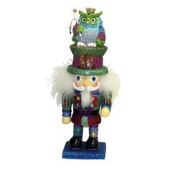 Kurt Adler Hollywood Colorful Owl Hat, 15-Inch