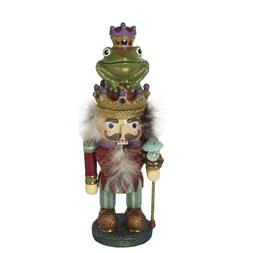"""15"""" Hollywood Decorative Frog Prince Whimsical Wooden Christ"""