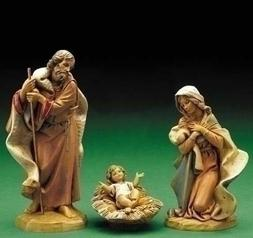 Fontanini by Roman Holy Family 3-Piece Nativity Set, 7.5-Inc
