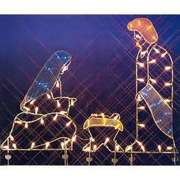 """Vickerman 68"""" Holy Family Nativity Silhouette Lighted Wire F"""