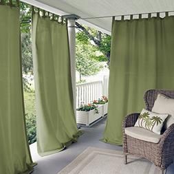 Elrene Home Fashions 026865643145 Indoor/Outdoor Solid Tab T