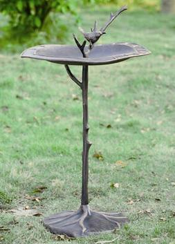 SPI Home 33348 Bird on Branch Sundial/Birdbath