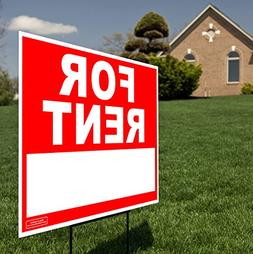 "Large 24"" x 18"" - Home For Rent - Yard Sign / Lawn Signage +"