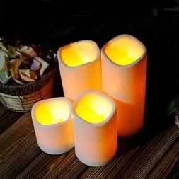 Cylindrical Flickering LED Candle Garden Yard Christmas Lamp