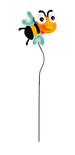 "HOME GARDEN POOL DECOR - METAL BEE YARD STAKE 24"" - BRAND NE"