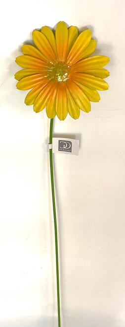 HOME GARDEN POOL DECOR YELLOW DAISY FLOWER YARD STAKE 714673