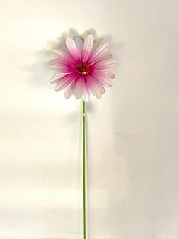 HOME GARDEN YARD POOL DECOR - PINK FLOWER STAKE 714673 APPRO