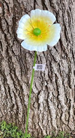 HOME GARDEN YARD POOL DECOR - WHITE FLOWER STAKE 714673 POPP