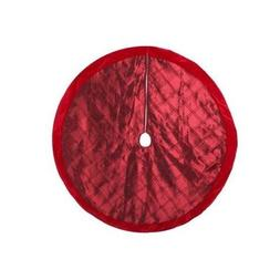 Home Holiday 56 in. Velvet and Satin Burgundy Christmas Tree
