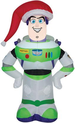 Home Holiday INFLATABLE AIRBLOWN BUZZ LIGHTYEAR with SANTA C