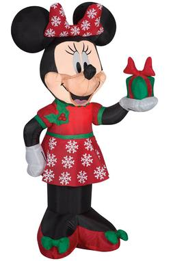 Home Holiday INFLATABLE AIRBLOWN MINNIE MOUSE SNOWFLAKE BOW