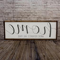 Home sign Rustic home sign Wood home sign Mantle decor Wall