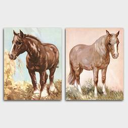 Horse Wall Art  Farm Animal Artwork – Unframed
