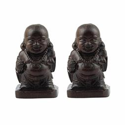SUNYIK Hotei Buddha Statue Carved Figurine Decor Home Guardi
