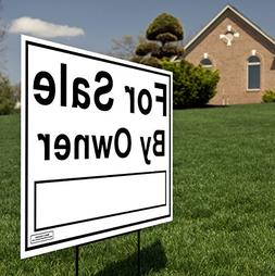 """Large 24""""x18"""" - House For Sale by Owner Yard Sign / Lawn Sig"""