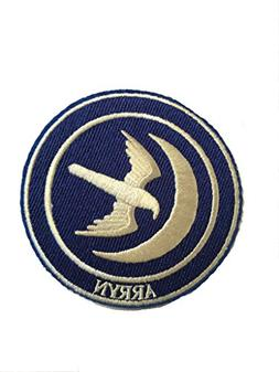 "Game of Thrones House Arryn 3.25"" Round Embroidered Iron On"