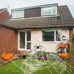Huge Giant Large Outdoor Yard 12 Rope Spider Web Halloween S