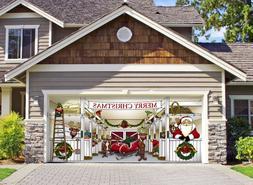 Huge Santa's Reindeer Barn Outdoor Christmas Holiday Garage