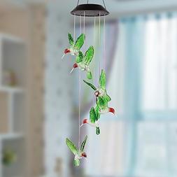 Amzdeal Hummingbird Solar Mobile Solar Mobile Wind Chime Sol
