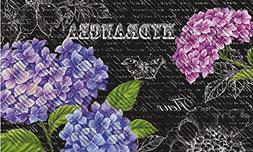 "Evergreen Beautiful Hydrangeas Embossed Floor Mat, 18"" x 30"""
