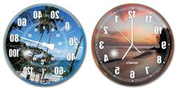 HydroTools by Swimline Poolside Wall Clock and Thermometer C