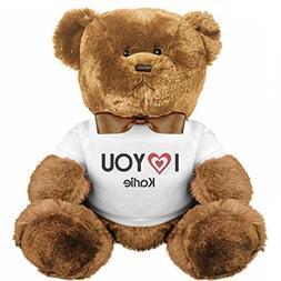 I Love You Karlie: Medium Plush Teddy Bear