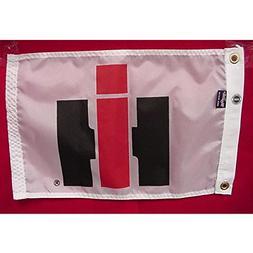 "IH 12"" x 18"" white nylon ""IH Logo"" flag!"
