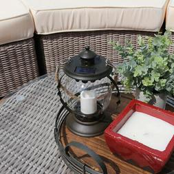 Sunnydaze 14 Inch Outdoor Glass Globe Solar Lantern with Can