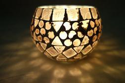 Lalhaveli Indian Designer Glass Candle Holder Home Decor 3 I